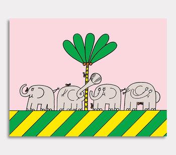 Fem myror och fyra elefanter.