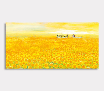 Sunflower sea - canvas painting