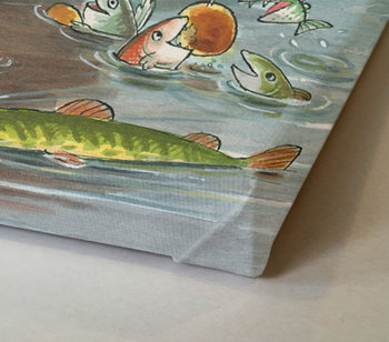 Mamma Moo fishes Painting