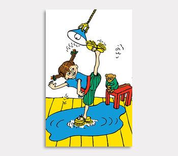 Pippi Långstrump skurar lampan