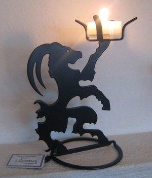 Hälsingeljusstaken Lill-Babs, 13 cm med värmeljus