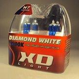 H9 DIAMOND WHITE BULBS 4200K - 55W- PAIR IN BOX