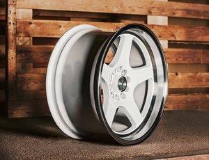 "59°North Wheels D-004 8,5x17"" ET10 5x100/5x108 white/polished lip"