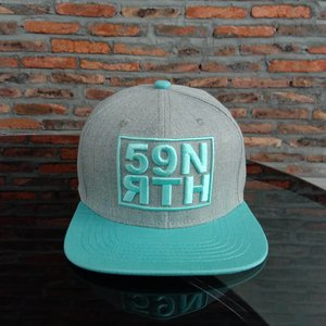 59°North Wheels Snapback Grey/Light Turqouise
