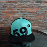 59°North Wheels Snapback Black/Turqouise