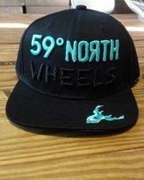 59°North Wheels Snapback Black