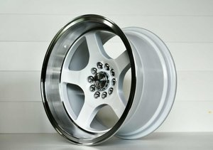 "59°North Wheels D-004 9,5x17"" ET5 5x114,3/5x120 white/polished lip"