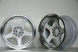 "59°North Wheels D-004 9,5x17"" ET5 5x114,3/5x120 white/polished lip"