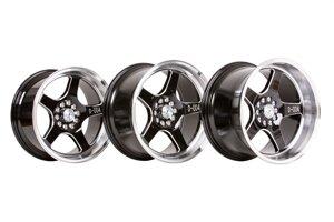 "59°North Wheels D-004 8,5x17"" ET10 5x100/5x108 Black/champer/polished lip"