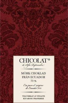 Mörk choklad från Equador 70%  85g Tillfälligt slut!