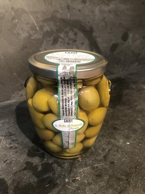 Bella Cerignola stora gröna oliver
