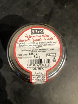 Peperoncino inlagd i olja