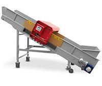 Transportband med Metalldetektor