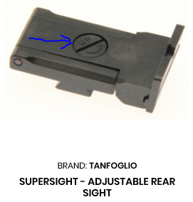 Tanfoglio Adj Rear Sight, Supersight