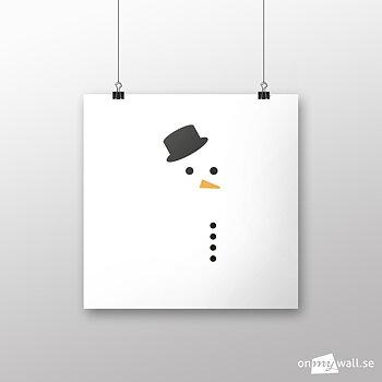 Snögubbe i snöstorm