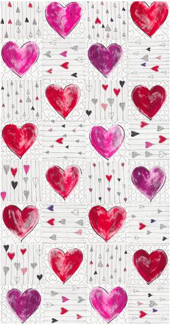 Stof Mast Hearts