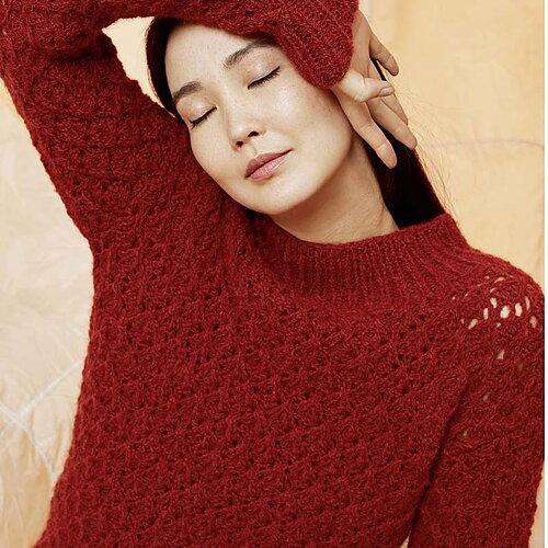 Sticka tröja i Luna Alpackagarn från Lang Yarns