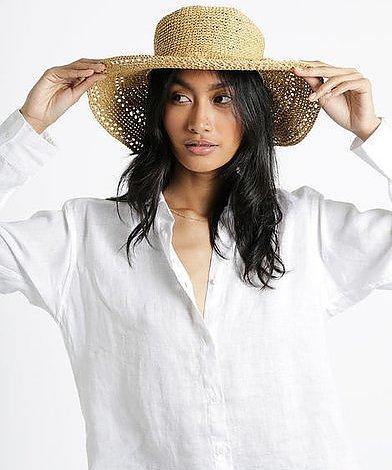 Virka sommarens hatt RA-RA RAFFIA 100 % träfibrer