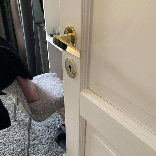 Dörrhandtag Blanka snygga dörrtrycken