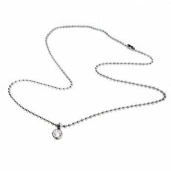 Solitärhalsband / armband i ställbar längd, stål