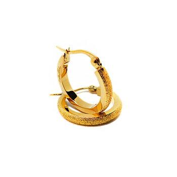Creole örhängen med gnistrande stjärnstoft, guld