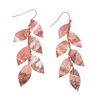 Nature Divine Earring Long - Rose Gold