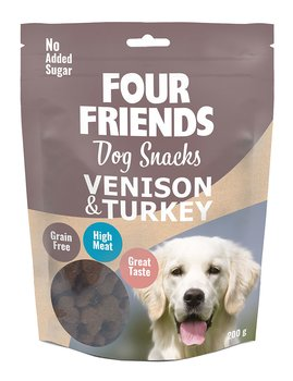 Four Friends Dog Snacks  Venison & Turkey  200gr