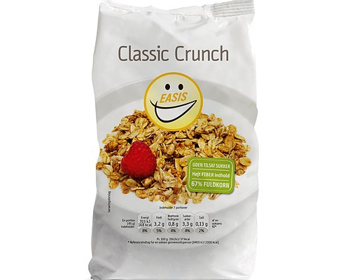 Classic Crunch Nyttigt! I lager
