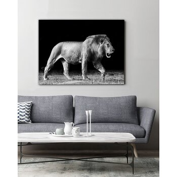 TAVLA CANVAS WALKING LION