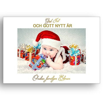 Egen bild egen text egen design 1 - Julkort