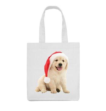 God jul hund med tomteluva 2 - Tygväska