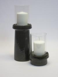 Ljuslykta i keramik med glaskåpa hög modell, från mitt&Ditt