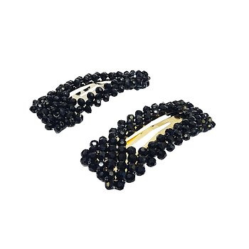 ANYA HAIR CLIP SET BLACK