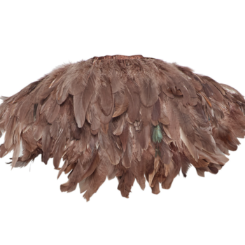 MAJESTIC FEATHER COLLAR BROWN