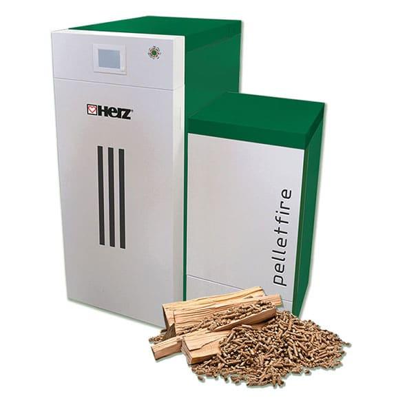 Log wood/Pellet combination boiler