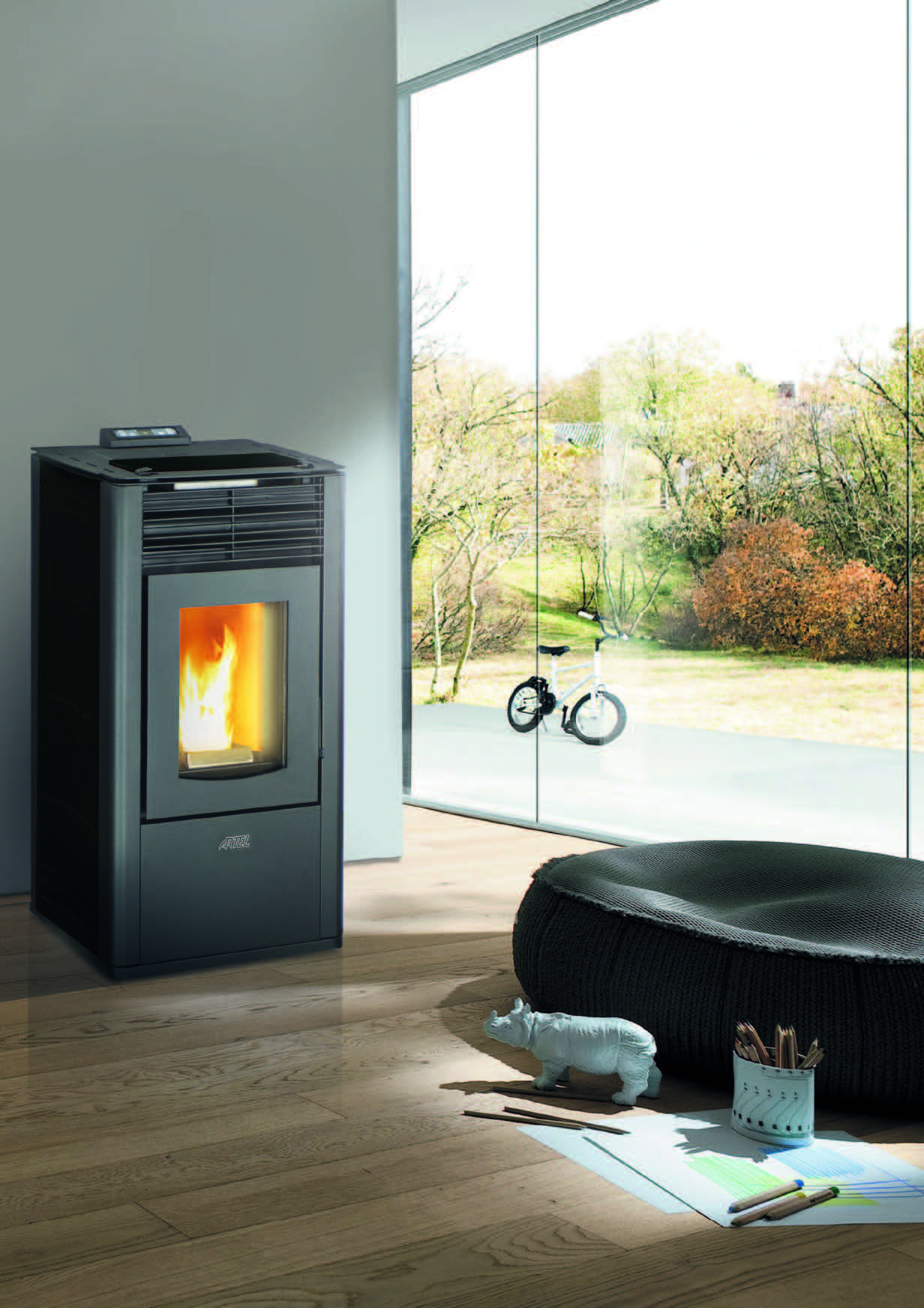 Pellet stoves Ducted