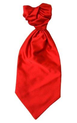 Kravatt och näsduk klarröd