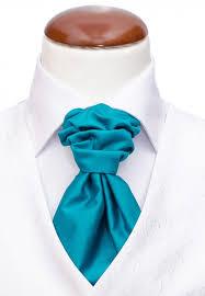 Kravatt  och näsduk turkos