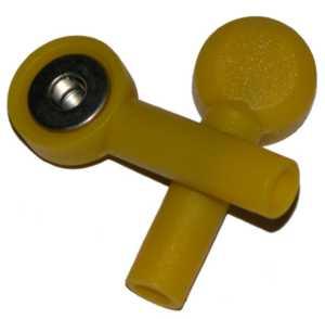 Tryckknapp - 4mm's hona, Gul