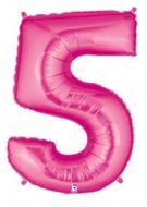 Folieballong Siffra - 5 - Rosa