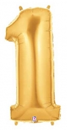 Folieballong Siffra - 1 - Guld