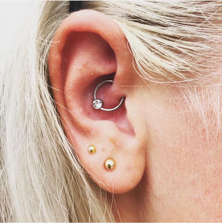 industrial piercing läkning