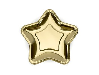 Paper Plates Star Gold, 18 cm
