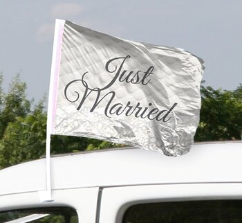 Flaggor till Bil Just Married, 2 st