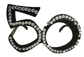 Glasögon 50 år Paljetter