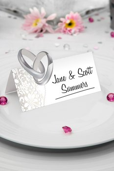 Namecards Wedding, 36 pc