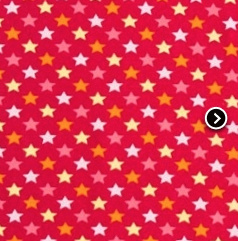 Eulenquartett Stars röd - EKOLOGISKT