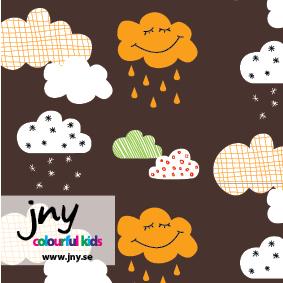 Happy Clouds, brun - EKOLOGISKT