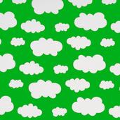 Grön jersey med vita moln