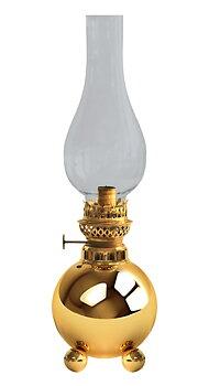 Gusum Messing Fotogenlampa på kulfötter